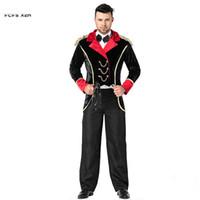 Erkekler sirk Hayvan trainer Cosplays Cadılar Bayramı Büyücü Kostümleri Purim Karnaval parade Sahne performanc Maskeli Parti elbise