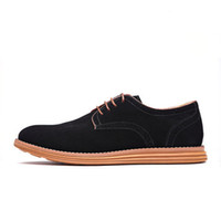 The New England Trend Casual Shoes Male Suede Oxford Leather Dress Shoes Leather Brogue Mens Flats Shoes For Men
