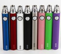 EVOD 650mAh 900mAh 1100mAh ricaricabile EVOD sigaretta elettronica batteria 510 filo eCigs Batteria per MT3 CE4 CE5 Protank atomizzatore