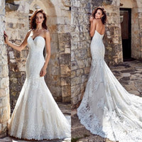 2020 Wedding Dresses Sexy Sweetheart Backless Lace Appliques Mermaid Bridal Gowns Spring Sweep Train Vestidos De Noiva