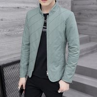 Männer Jacken Halozeroo Spring Slim Fit Jacke Reißverschluss Freizeit Mantel Baumwolle Männliche Mäntel Grün Schwarz Blau Größe M-XXXL B33
