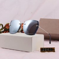 Sunglasses design - 2019 new polarized ladies color rimless s...