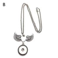 Moda intercambiable Wing Ginger Necklace 246 Fit 18 mm botón a presión colgante, collar de la joyería del encanto para las mujeres regalo