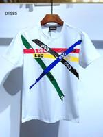 DSQ Hommes Designer T-shirts Hommes Noir Blanc Été Mode Casual Rue T-shirt à manches courtes Tops Taille Euro M-XXXL 6833
