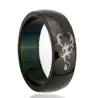 Brosse personnalisée noir gravure au laser sur la photo anneau de tungstène en gros 8mm