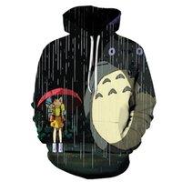 Druck 3D Totoro Pullover Männer Frauen 3D-Sweatshirts Hoodie beiläufige Pullover arbeiten mit Kapuze Tracksutis Neuheit kühlen Street Mantel