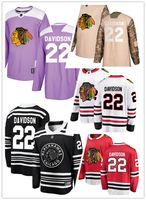 14b09ab7d New Arrival. Chicago Blackhawks jerseys  22 Brandon Davidson Jersey ice  hockey men women youth black white red winter classic ...