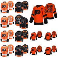 2019 Stadio Serie Philadelphia Flyers maglie 14 Sean Couturier Jersey 93 Jakub Voracek Nolan Patrick Claude Giroux Carter Hart cucita