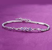 16.5+4cm Angel Luxury Designer Bracelet Top Quality 925 Sterling Silver Plated Crystal CZ Diamond Charm Link Chain Bracelets Jewelry