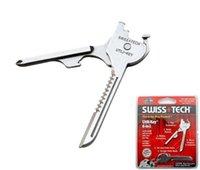 300 stks Swiss + Tech 6 in 1 Utili-Key Mini Multi Functie Sleutelhanger Flat en Lock Glas Schroevendraaier Flesopener Pocket Mes EDC Tool SN1894
