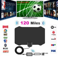120 Milhas Digital HDTV Indoor TV Antena com Amplificador de Sinal de TV Raio de Surf Antena Fox Antena