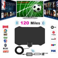 120 Millas HDTV digital Antena de TV interior con señal de amplificador Radio TV Surf Antena Fox Antena