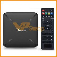 TX6 Mini Caixa de TV Inteligente Android 9.0 2 GB 16 GB 4 Allwinner H6 QuadCore USD3.0 2.4G Wifi BT Leitor Google Youtube Netflix PK TX3 X96
