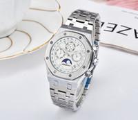Цвета мужские модные часы Royal Oak Luxury Designer Diamond Iced Out Watches нержавеющая сталь Bling кварцевый ap механизм Party наручные часы