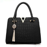 Crocodile Leather Women Bag V Letters Designer Handbags Luxu...