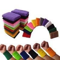 منشفة من القطن الحرس المعصم الرياضية، تنفس ملونة تشغيل اللياقة البدنية وعرق امتصاص عصابة المعصم، كرة السلة الرياضة حماية اللياقة البدنية