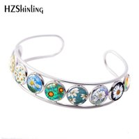 2019 New Beautiful Daisiy Cuff Bracelet Daisies Flowers Pain...