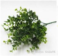 Diretto partizione di vendita decorazione di eucalipto impianto di simulazione piantatura verde fiore di plastica organizzare accessori, grande foglia 20pcs / L646