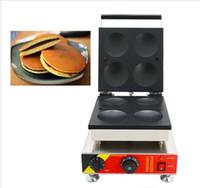 110v 220v Elektrik Japon Dora'nın dorayaki Makine'nin 4adet Waffle Gözleme Makinesi Kırmızı Fasulye Pasta Snack Demir Ekipmanları LLFA Yapıştır