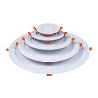 Luces ultra delgadas del panel LED empotradas LED LED Luz de luz ligera con el conductor AC85-265V Techo Ligh