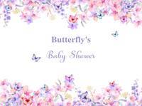 Бабочки Baby Shower День рождения Баннер Photography фоны Красочные фоны Акварельные цветы Vinyl Photo Booth для детей студии