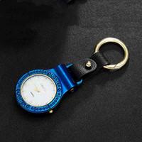 Nuovi Colorful USB Orologio da tasca elettronico Chargable Accendino con Luce LED auto portachiavi per la sigaretta regalo Smoking Pipe 5 colori