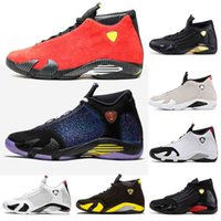 Nike Air Jordan Retro 14 Womens Basketball Top Mens barata sapatos 2020 Marca 14 14s reverso Ferrar Amarelo Trovão Preto Toe SPM x White Luxury Designer Sneakers 40-47