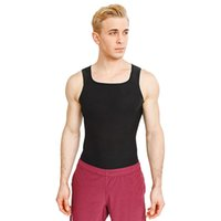 Men Casual Square Neck Sleeveless Solid Black FitnessTop Slim Fitness Vest Fitness, Yoga Summer Top