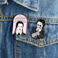 Creative Wednesday Adams Skeleton Punk brooches pins Designe...