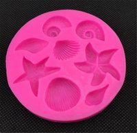 New Bar Sea creatures conch starfish shell flip cake silicon...