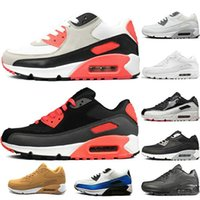 cheap sale 90 90s Men women Running Shoes Triple Black White...