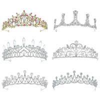 Vente chaude Femmes Gold Silver Bridal Crowns Crwinest Strass Cristaux Prêra Prênes Couronnes de mariage Couronnes Accessoires pour cheveux