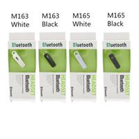 Stereo M165 M163 auricolare wireless Bluetooth 4.1 auricolare auto Musica auricolari Sport Handfree gancio per l'orecchio universale per Iphone