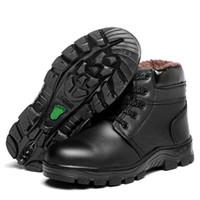 Scarpe Hot Sale-stivali da uomo di sicurezza inverno per gli uomini più caldo velluto Snow Boots ispessimento freddo a prova di punta di ferro scarpe impermeabili