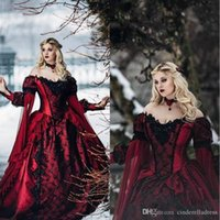 Gothic Sleeping Beauty Princess Medieval Burgundy Black Even...