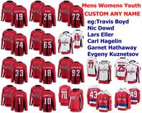 Capitales de Washington jerseys para mujer niños Nicklas Backstrom Jersey Travis Boyd Nic Dowd Lars Eller Carl Hagelin hockey jerseys cosido personalizada