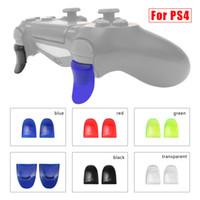1 пара L2 R2 Trigger Расширенные кнопки крышки Комплект для контроллера Playstation PS4 Игровой аксессуар