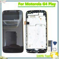 % 100 Motorola Moto G4 için Frame ile Dokunmatik Ekran Sayısallaştırıcı Meclisi ile Moto G4 Çal LCD Ekran için test edilmiştir XT1601 XT1602 oyna