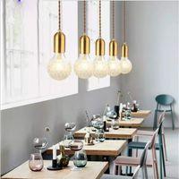 Pendelleuchten Kupfer Glas nordic einfache moderne hängende wohnzimmer deckenleuchten