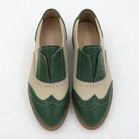 Moda Dantel-up Düşük Topuklu Oxford Ayakkabı Kadınlar Için Yuvarlak Toe Karışık Renkler Nedensel Brogues Oxfords Tek Ayakkabı Kadın