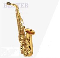 المستوى المهني الذهبي ألتو ساكسفون YAS-875EX اليابان العلامة التجارية ألتو ساكسفون الإلكترونية مسطحة الموسيقى أداة شحن مجاني