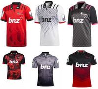 2019 CRUSADERS Super Rugby Trainings-Jersey Neuseeland Super Rugby Union Crusaders Hochtemperatur-Jersey-Shirts Größe S-3XL