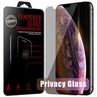 Privacy Glass Anti Spy Screen Protector für iPhone 13 12 xs Max 11 Pro max 7 8 Plus Protector Film Unsichtbares gehärtetes Glas mit Kleinkasten