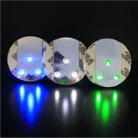 LED Sticker Coaster Discs Lights - Weinflasche Spiralflasche Klarglas Cup Coaster