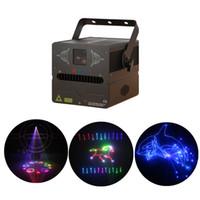 AUCD 500 백만 와트 / 1 와트 DMX SD RGB 애니메이션 레이저 프로젝터 빛 DJ 파티 나이트 클럽 전문 웨딩 쇼 무대 조명 FB-SD