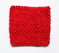 Hot Baby Girl 9inch Haak Tutu Tube Tops Borst Wrap Wide Crochet Tops voor DIY Tutu Jurk leverancier 20pcs