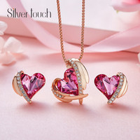 Pink Angels use Swarovski crystal necklace European and Amer...