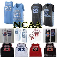 Erkekler 23 Michael Jersey Space Jam Ayarlama Squad NCAA North Carolina Tar Heels Basketbol Formalar