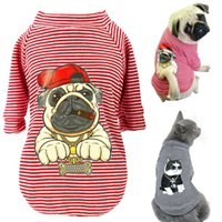 Soft Cotton Dog Clothes Spring Puppy Cat Striped T- shirt Sma...