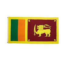 3x5ft 사용자 정의 스리랑카 국기 고품질 디지털 인쇄 폴리 에스터 광고 옥외 실내, 가장 인기있는 깃발, 무료 배송